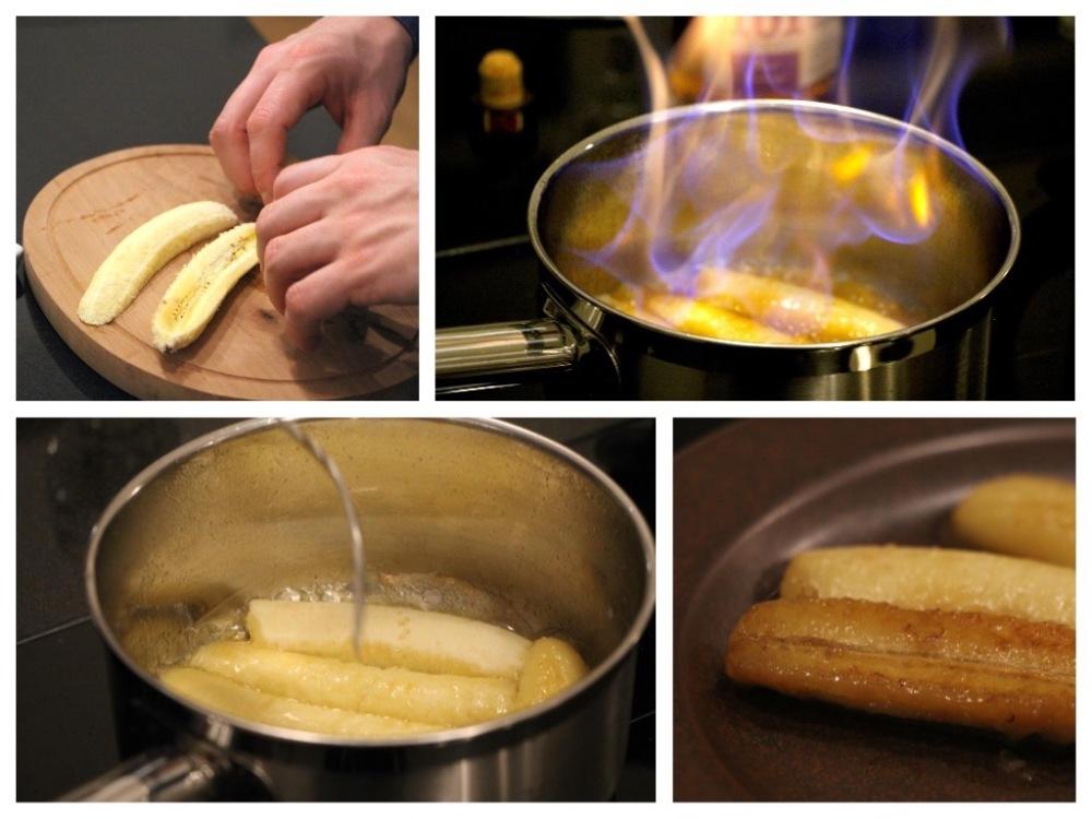 Bananen flambiert