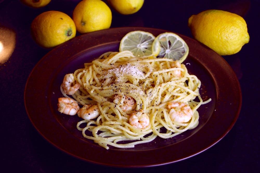 Spaghetti mit Zitronen