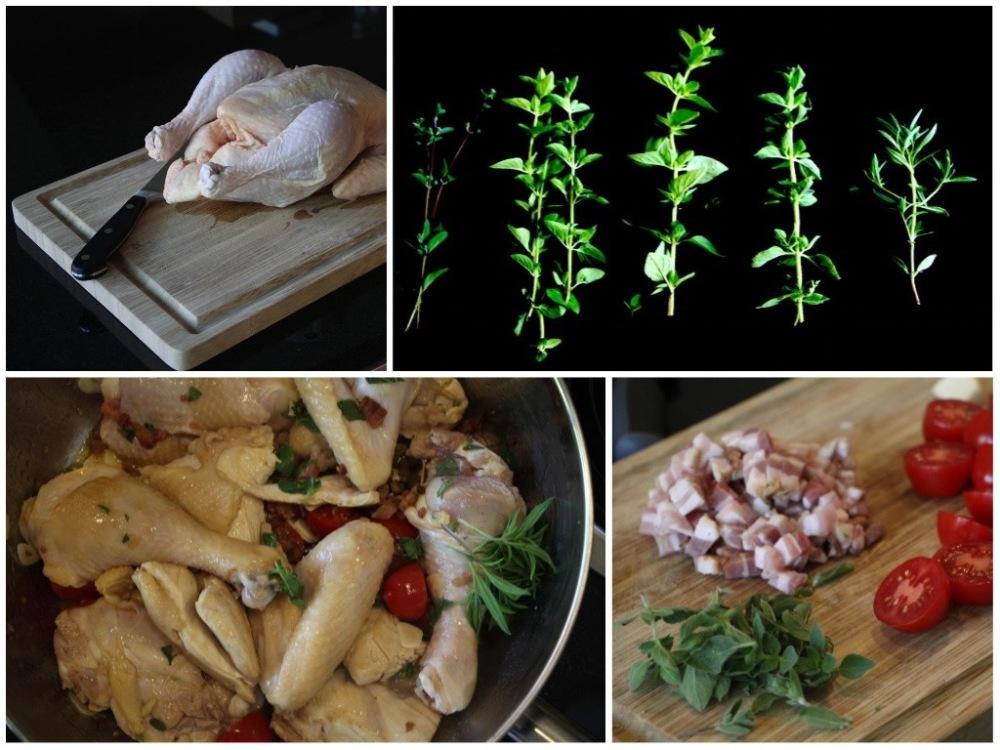 Zutaten für Pollo alla Romana