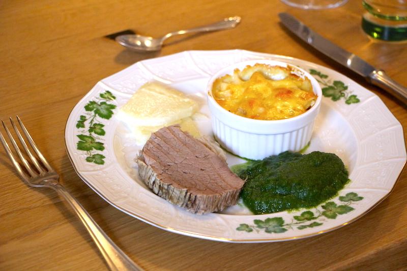 Tafelspitz mit Kartoffelgratin