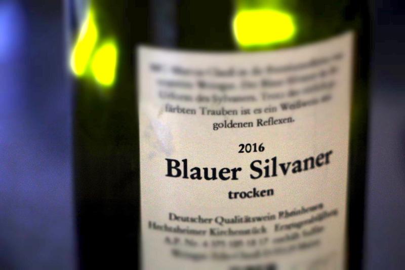 Blauer Silvaner – Etikett